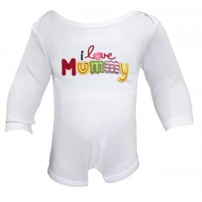 Body bebe online, mesaj Te iubesc mami