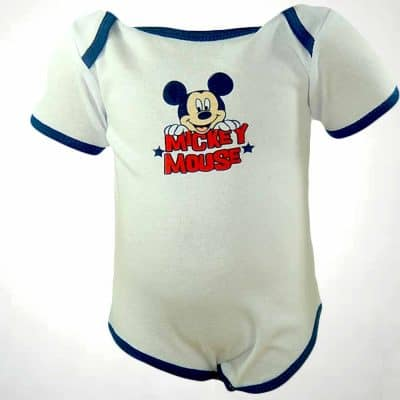 Body maneca scurta albastru Mickey