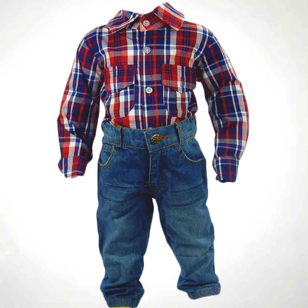 Haine pentru copii,camasa si blugi