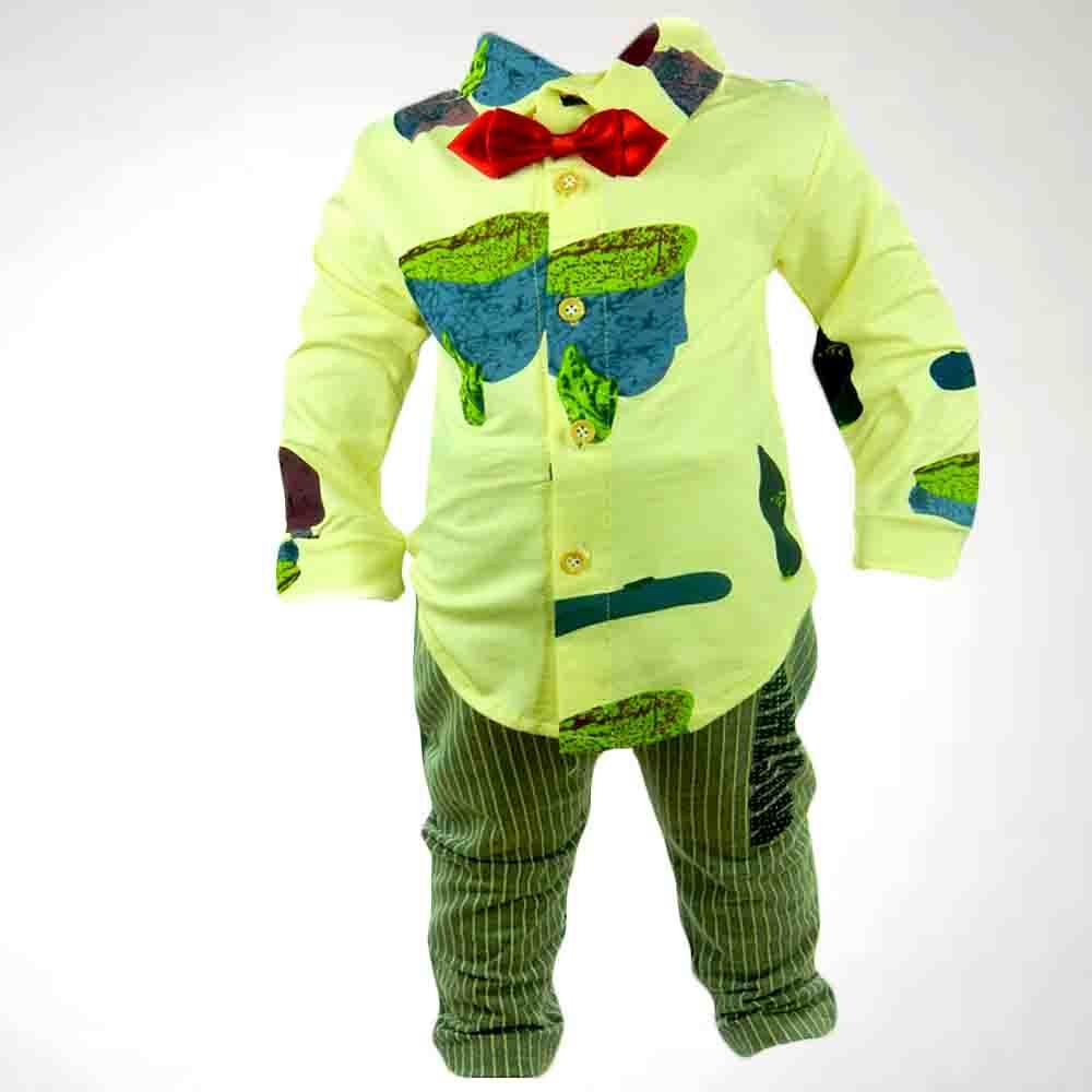 Costum bebe-camasa si pantaloni