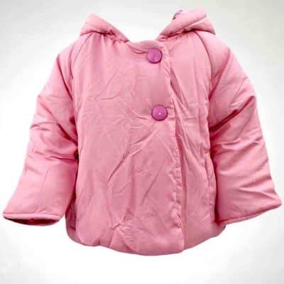 Geaca roz pentru bebelusi fetite