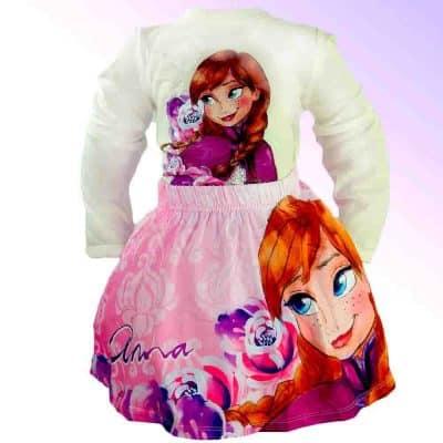 Hainute disney fete Frozen-bluza si fusta