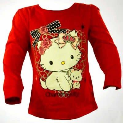 Alege haine de fete bluza rosie