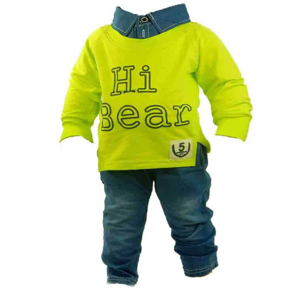 Alege haine pentru copii. Blugi cu bluza