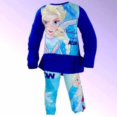 Bluza si colanti Frozen pentru fete