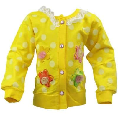 Pulover galben pentru bebelusi fete