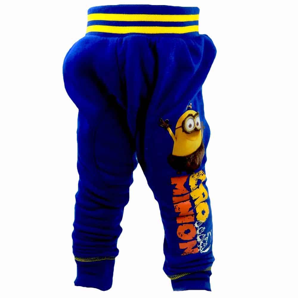 Haine groase copii, pantaloni dublati cu Minioni