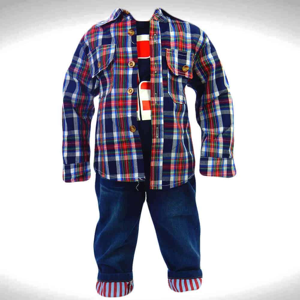 Alege haine pentru copii, costum baieti 4 piese