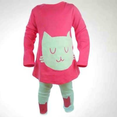 Alege haine pentru fete, set colanti si bluza