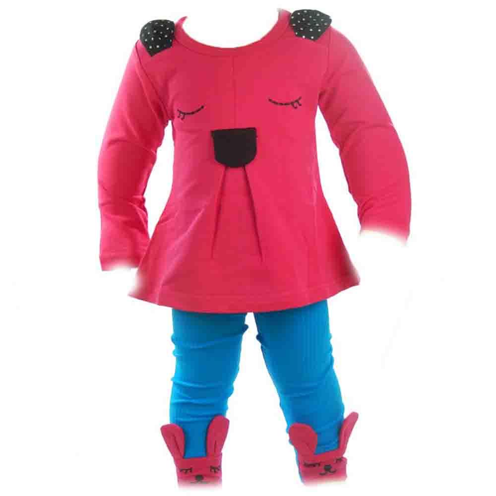Compleuri bebe fete, set bluza colanti