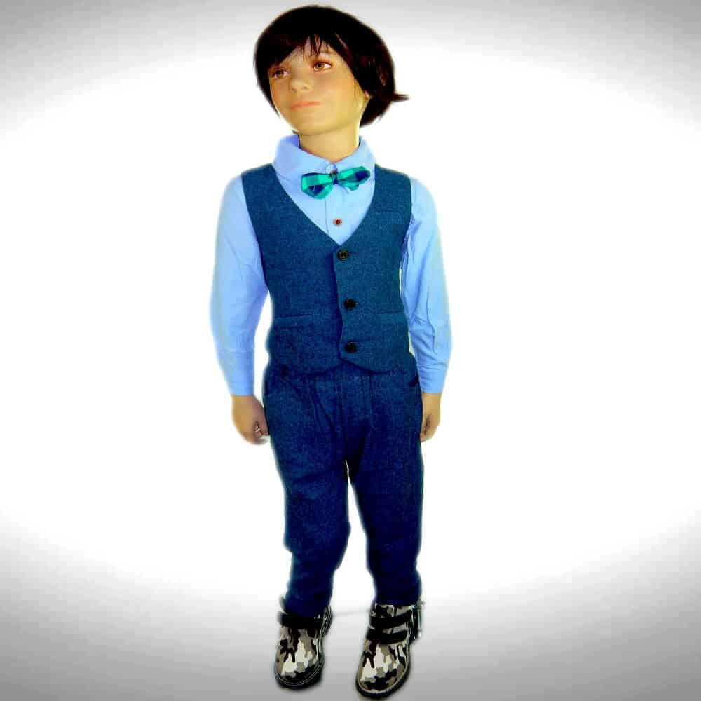 Imbracaminte copii, costum albastru pentru baieti