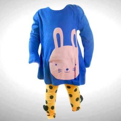 Set colanti si bluza pentru fetite