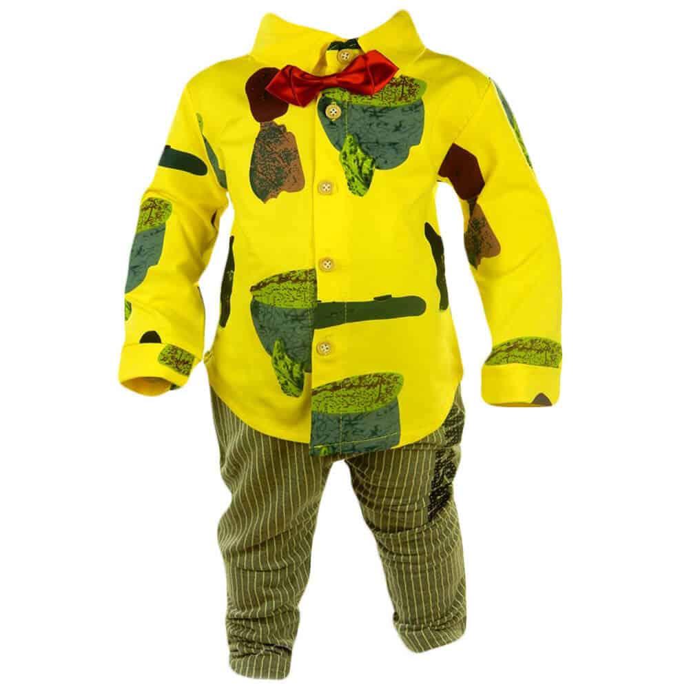 Alege haine pentru bebelusi, costumas colorat