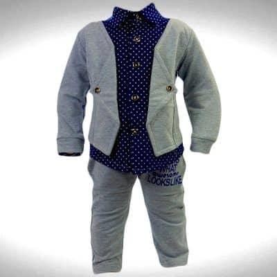 Compleu elegant cu camasa si pantaloni ptr bebe