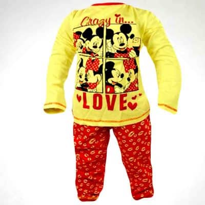 Alege hainute fete, set colanti bluza Minnie Mouse;