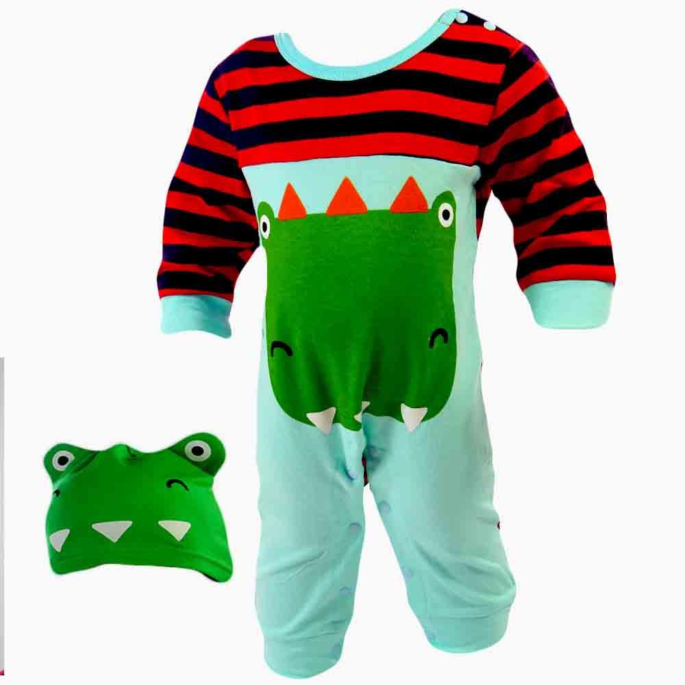 Salopeta pentru bebelusi baieti, Dino