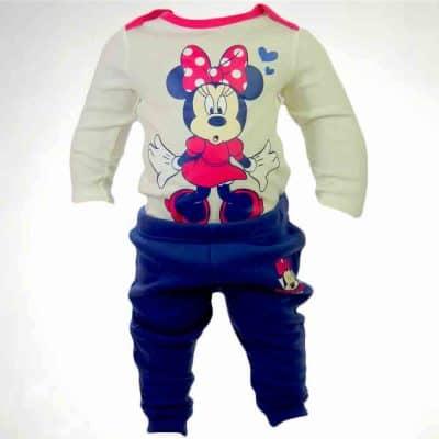Haine bebelusi fete, set body Minnie Mouse