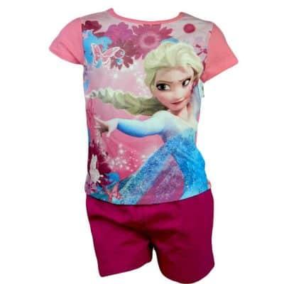 Tricou cu pantaloni scurti fete- Frozen