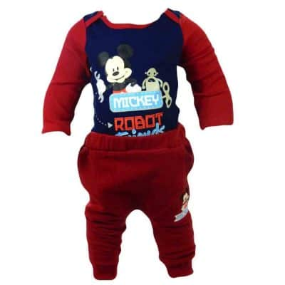 Alege haine bebelusi baieti, set body Mickey