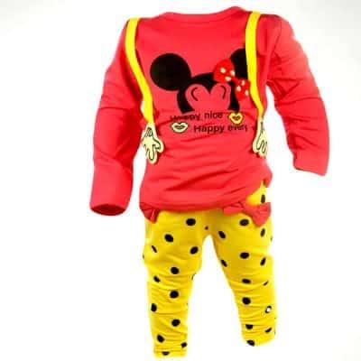 Colanti si bluza pentru fete Minnie Mouse