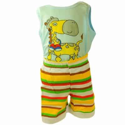 Haine de bebelusi de vara. Compleu colorat