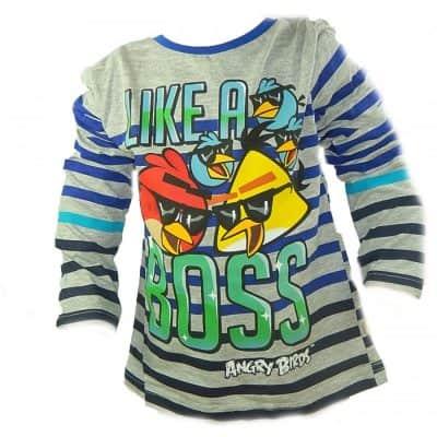 Haine pentru copii online. Bluza baieti Angry Birds