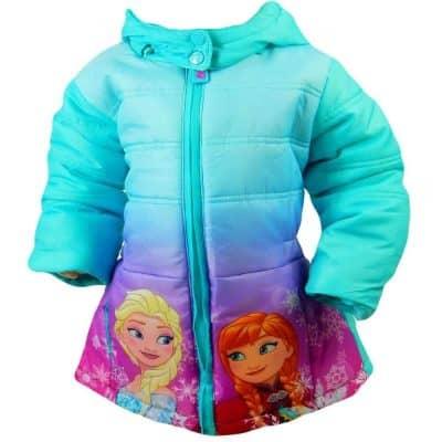 Haine groase pentru copii fete. Geaca de iarna Frozen