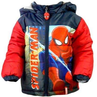 Geaca de iarna Spiderman. Haine groase copii