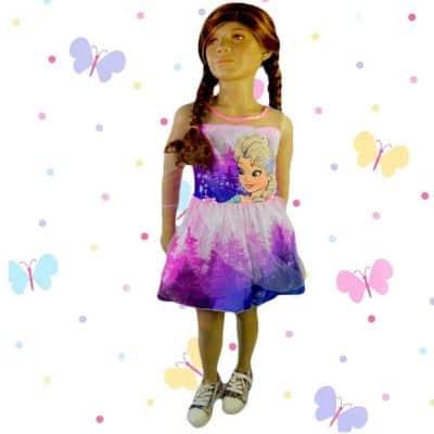 Alege rochite online de fete. Rochie Frozen