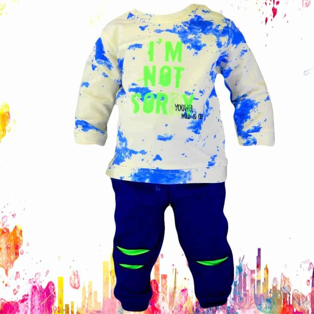 Alege haine bebe. Set bluza si pantaloni