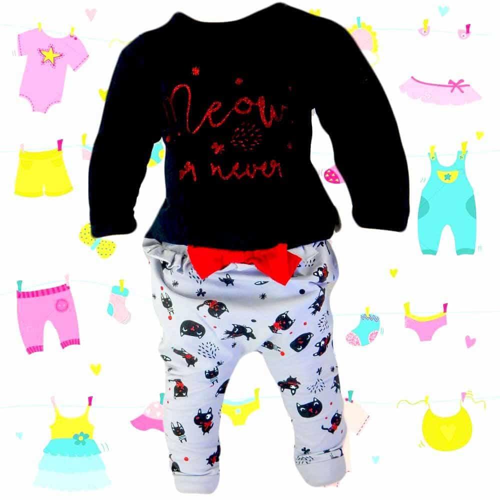 Haine bebelusi fete. Trening pisicute