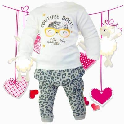 Set fetite chic – Hanorac, bluza si pantaloni