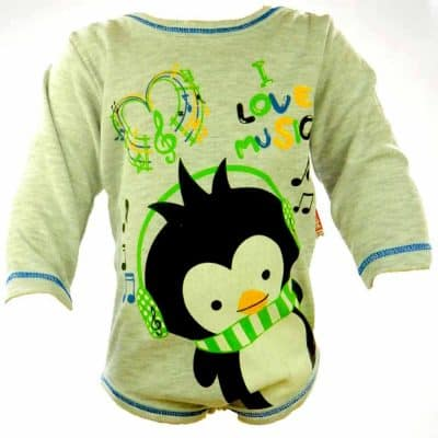 Body bebe baieti- Pinguin