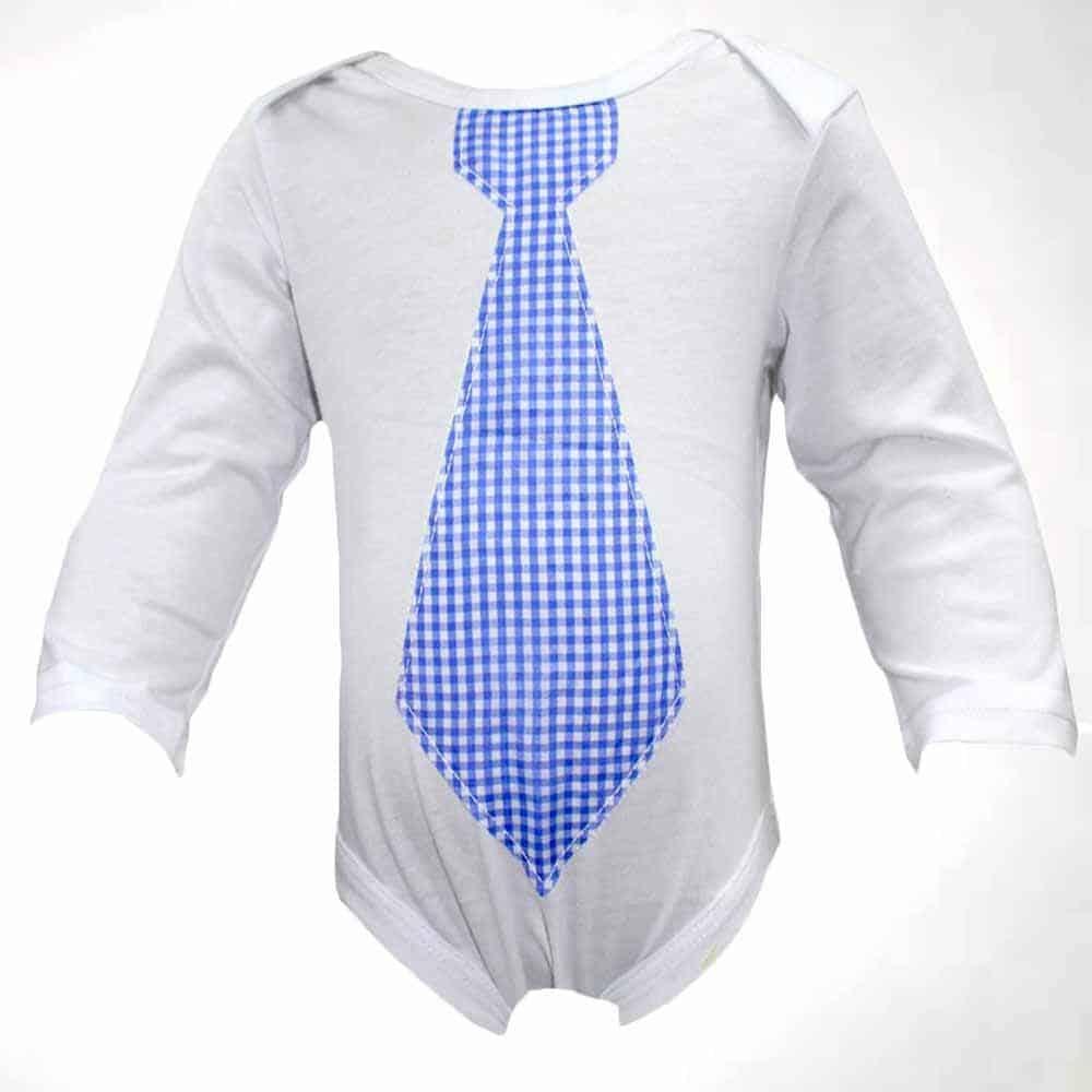 Body alb cravata bebelusi