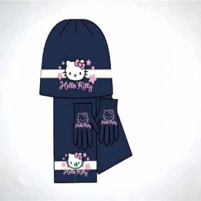 Haine fete Caciula fular manusi Hello Kitty