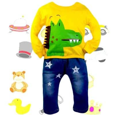 Alege haine bebelusi. Bluza si blugi Crocodil
