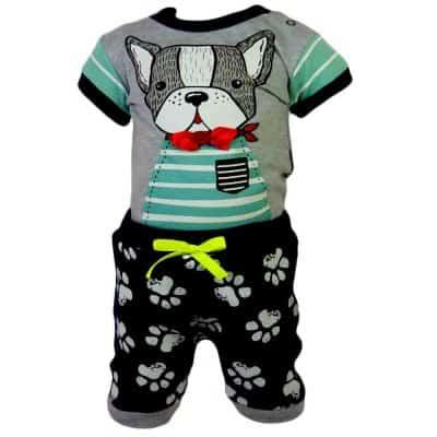 Set bebe de vara, body si pantaloni scurti