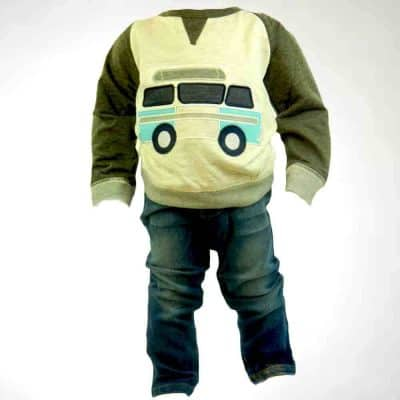 Haine pentru copii-Blugi, bluza Masina