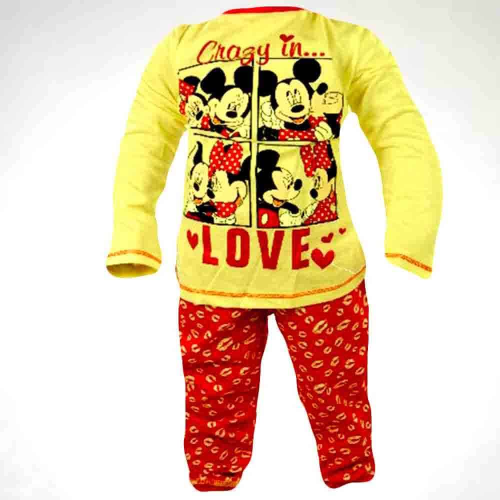 Alege hainute fete, set colanti bluza Minnie Mouse;
