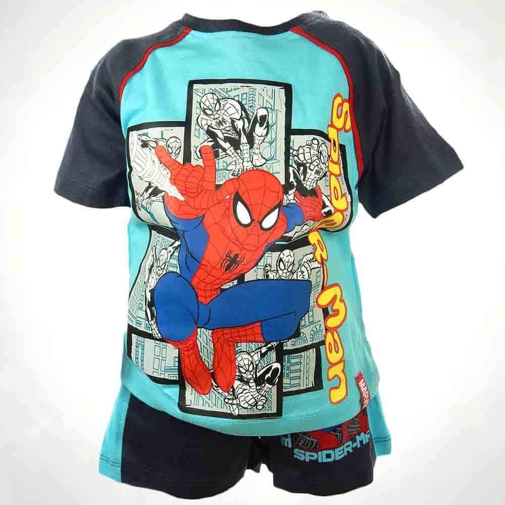 Haine pentru copii. Tricou pantaloni scurti Spiderman