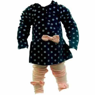 Alege haine fete online, set colanti si bluza