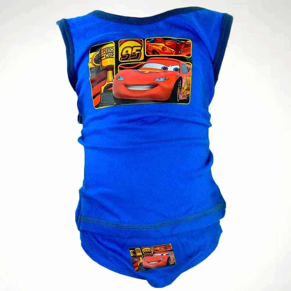 Alege haine pentru baieti, set maieu, chilot Cars