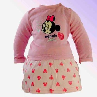 Haine pentru bebelusi fete. Rochita Minnie Mouse