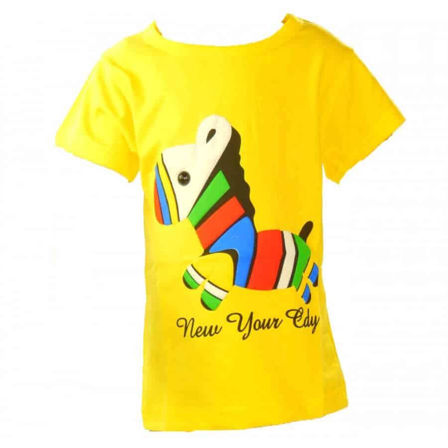 Tricouri ieftine pentru bebelusi. Tricou galben baieti