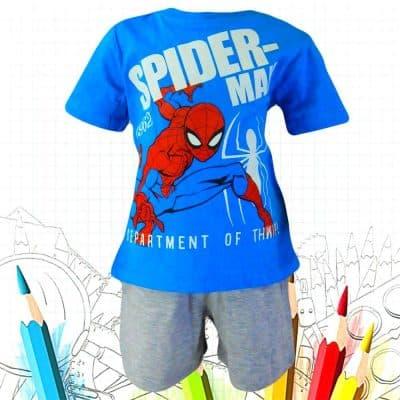 Alege haine copii. Seturi de vara cu Spiderman