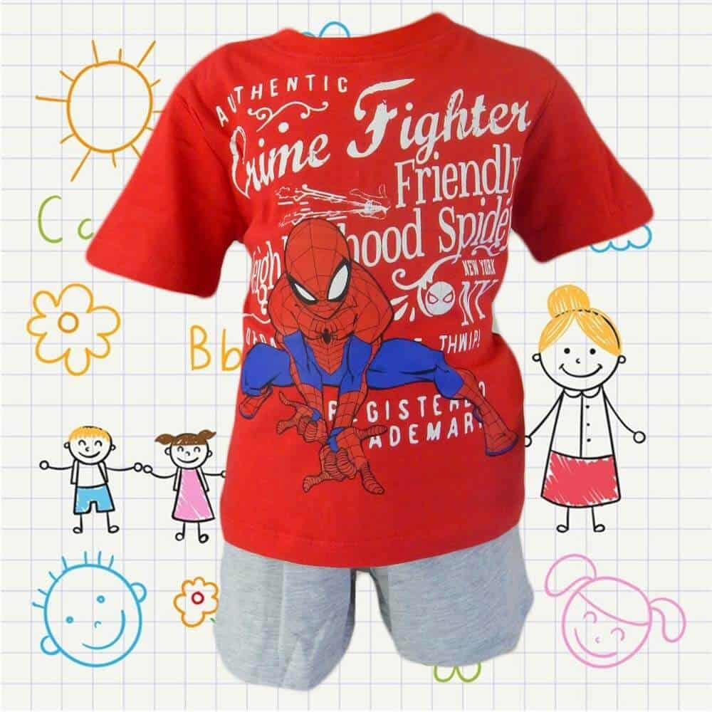 Alege haine copii cu Spiderman. Seturi de vara