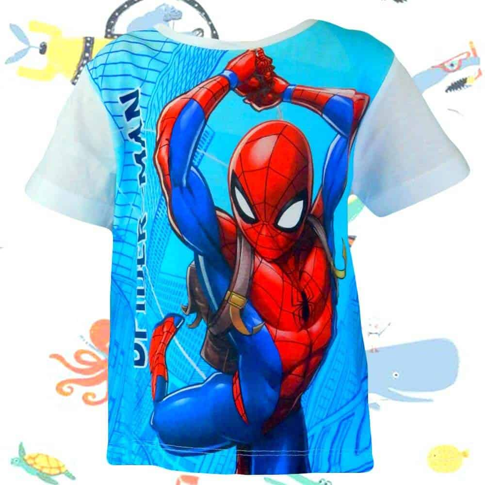Haine de  vara copii. Tricouri baieti cu Spiderman
