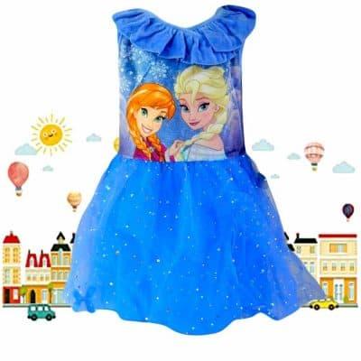 Alege rochii de copii. Rochita Frozen Ana si Elsa