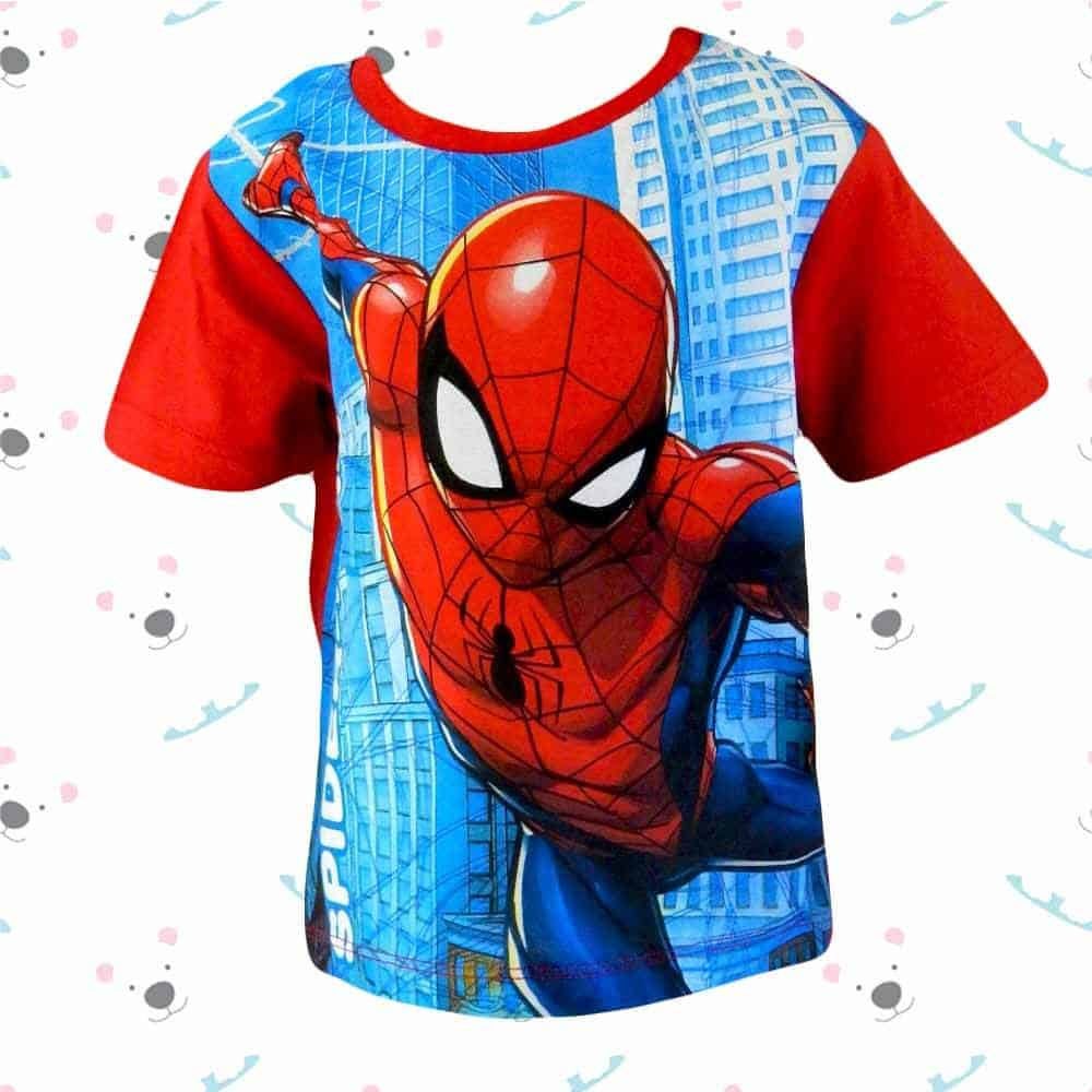 Haine de vara copii. Tricou baieti cu Spiderman