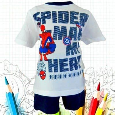 Alege haine copii. Compleu baieti cu Spiderman